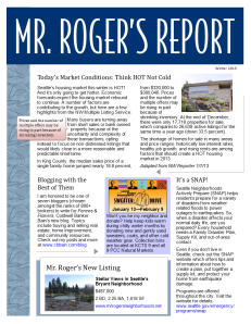 Mr Roger's Report Winter 2013