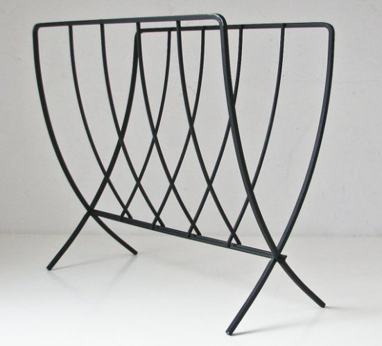 mid-century magazine rack log holder