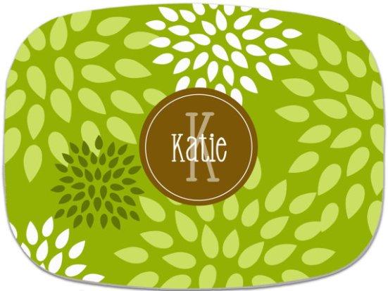 monogrammed platter