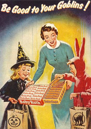 halloween vintage ad