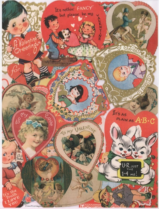 vintage valentine collage
